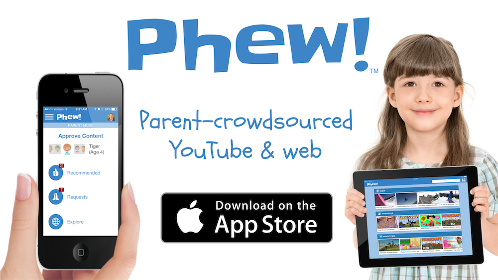 Download Phew on the App Store - to keep your kids safe online (YouTube and Web)